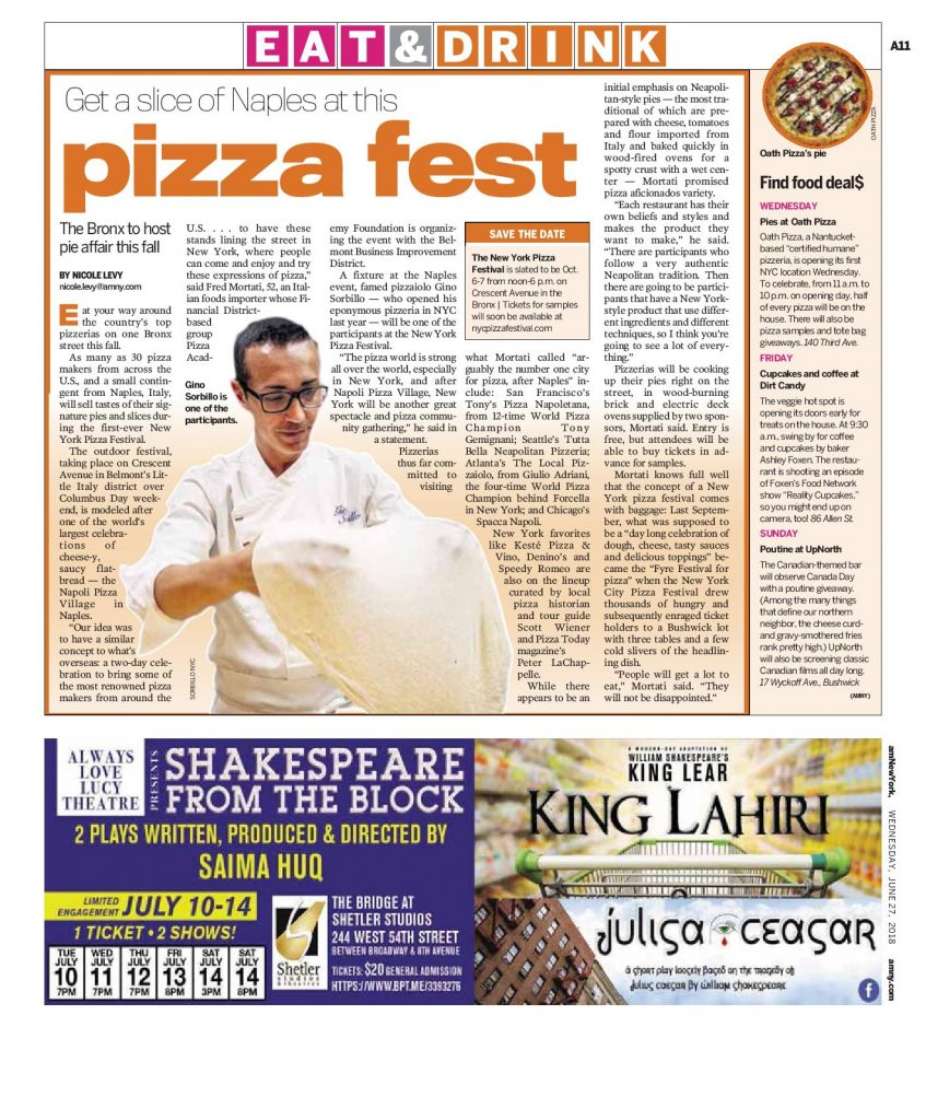 AMNY - Bet a slice of Naples at this Pizza Fest